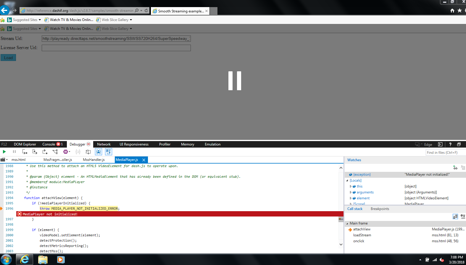 dash js MSS streaming support on IE11 on Windows 7? · Issue