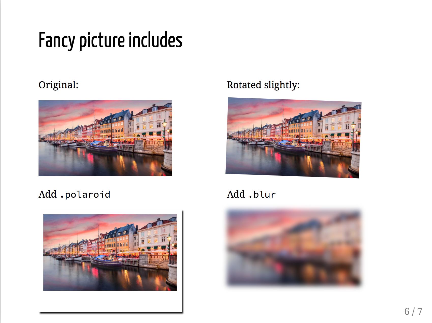 fancy picture effects
