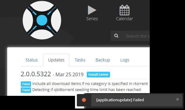 Fail to update version · Issue #3032 · Sonarr/Sonarr · GitHub