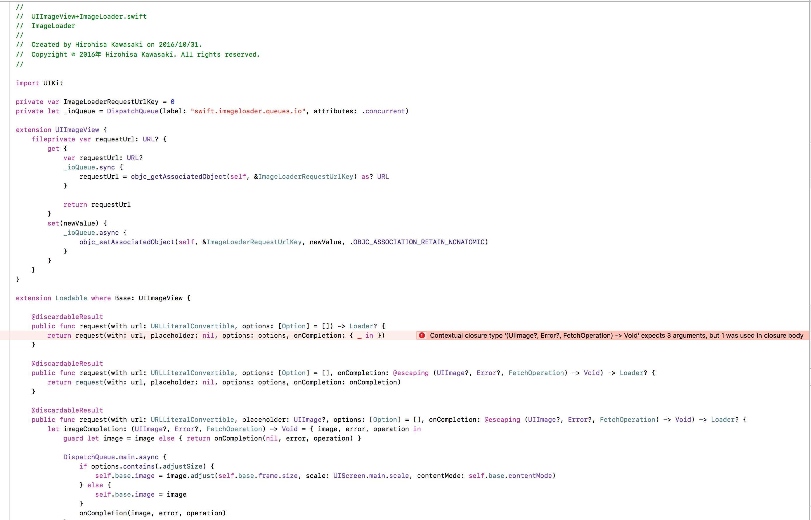Swift 4 0, iOS 11 Support · Issue #107 · hirohisa