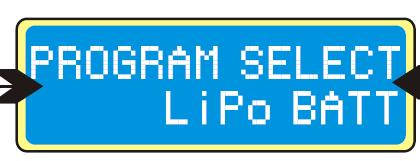 program select lipo batt