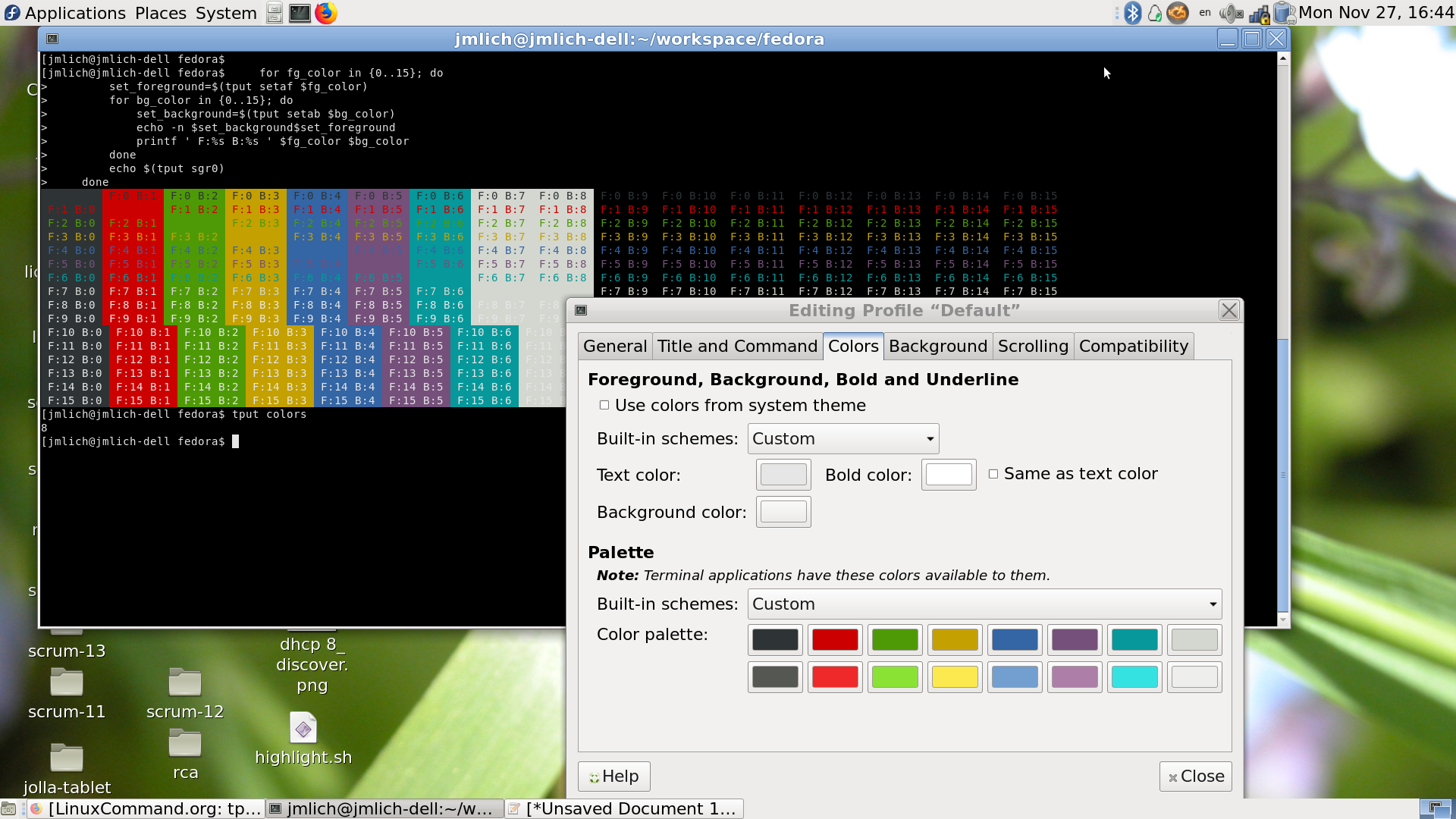mate-terminal shows only 8 colors · Issue #209 · mate-desktop/mate