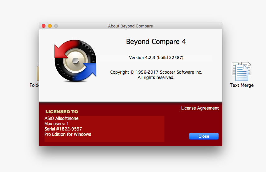 beyond compare license key for mac