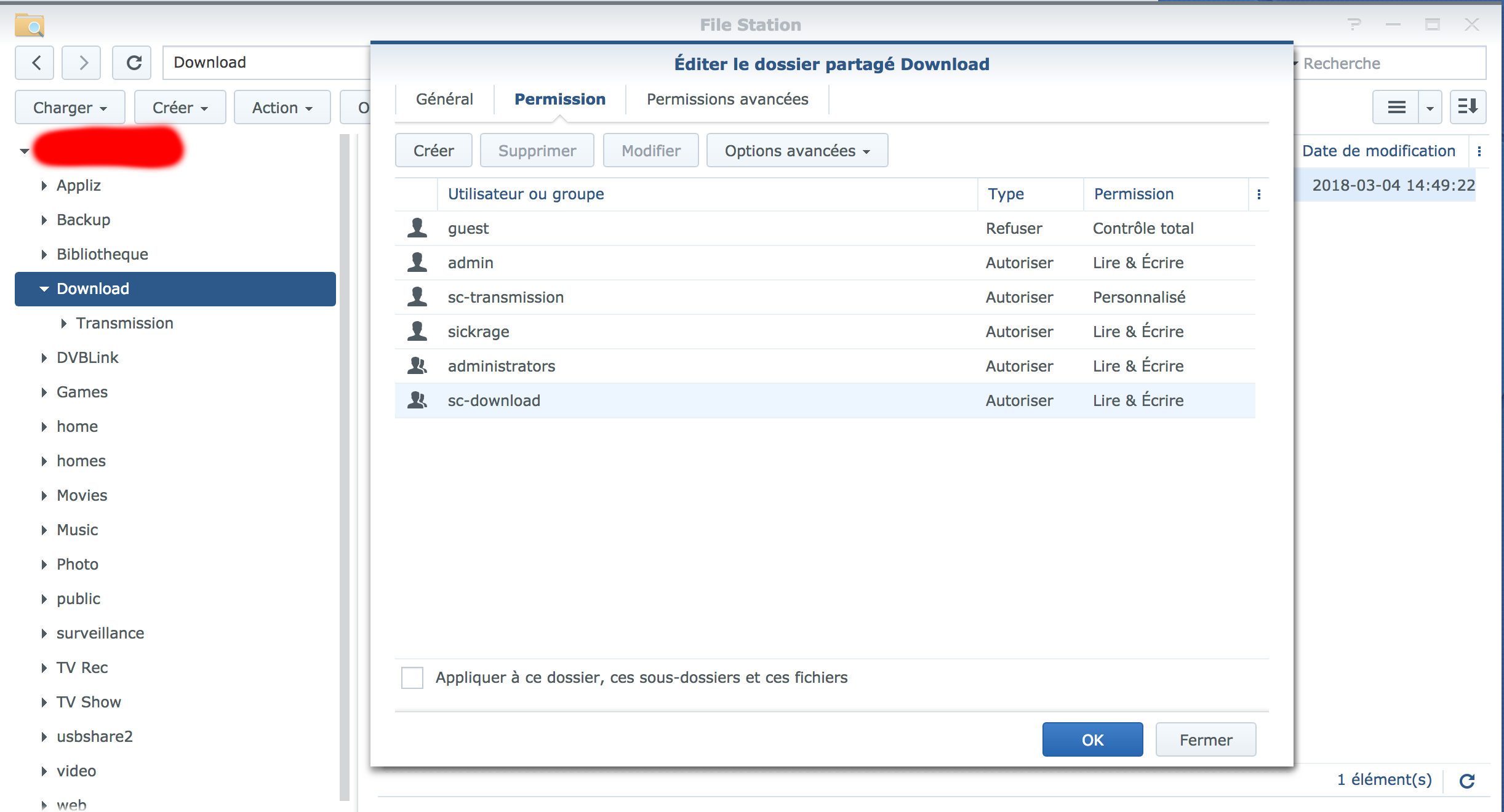 Synology and Radarr : Denied · Issue #3199 · SynoCommunity/spksrc