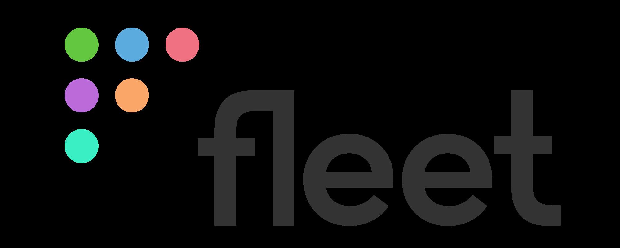 Fleet logo, landscape, dark text, transparent background