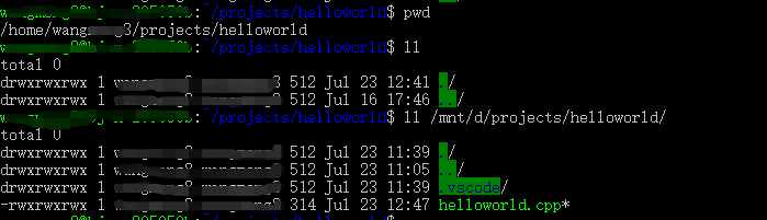 i can not build the hello word on WSL task which is the demo