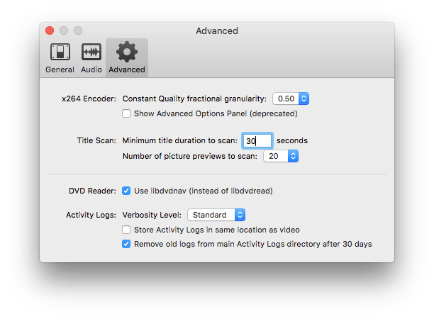 Change some default options for detecting video size/dimensions + ...