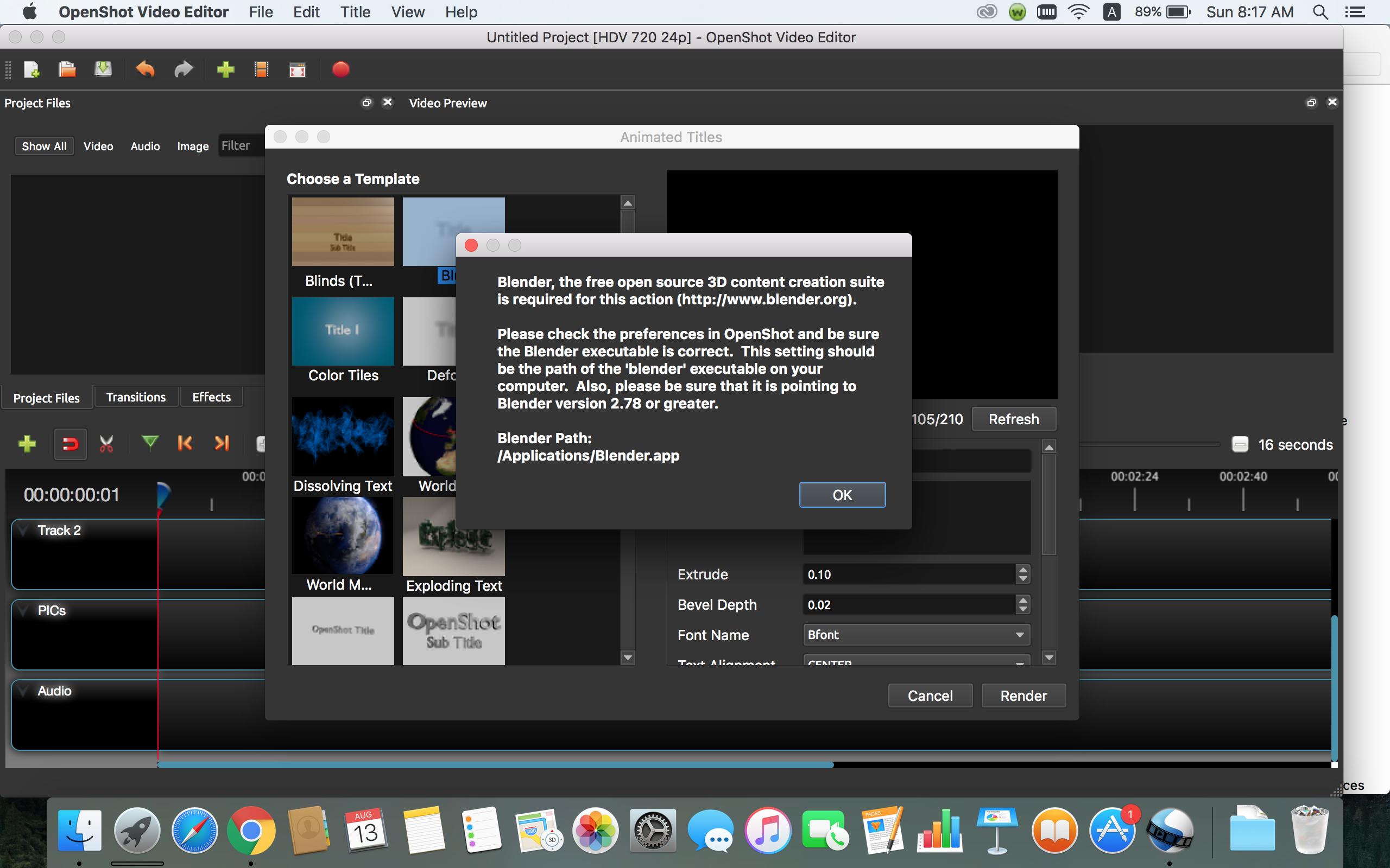 openshot mac