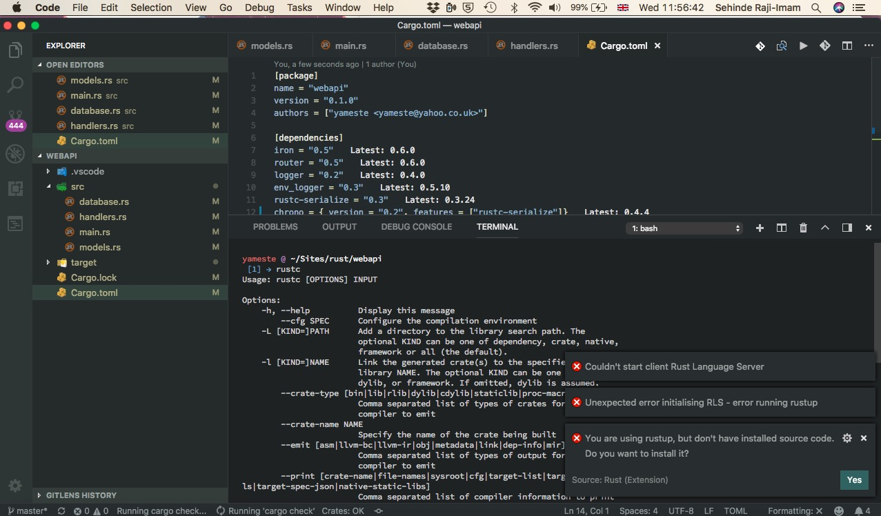 RLS Cannot be started  · Issue #237 · rust-lang/rls-vscode · GitHub