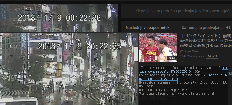 Weird issue, youtube live stream starts playing 4 hours backwards