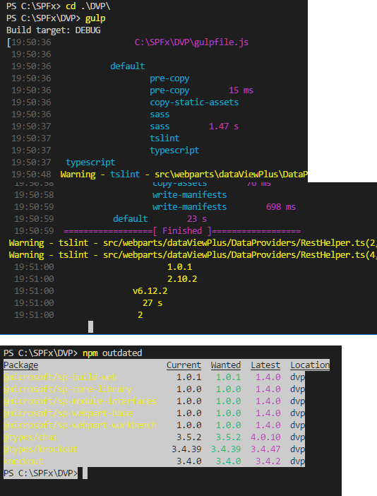 VSCode Integrated terminal text color goes crazy after npm