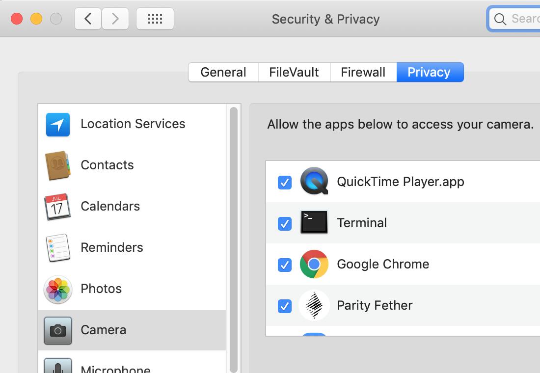 macOS Mojave] getUserMedia fails during development · Issue