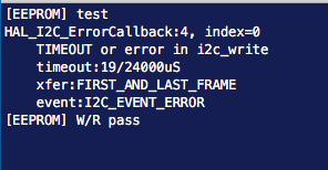 I2C write issue with AT24C EEPROM TIMEOUT or error in