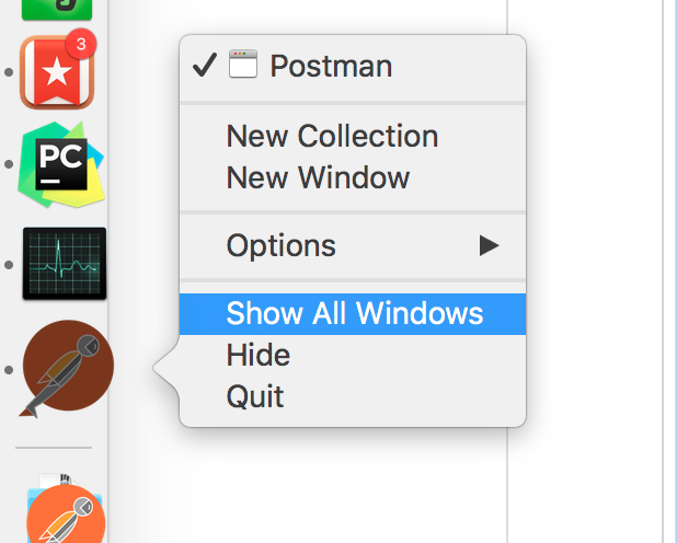 Postman window does not show up after opening it  · Issue #3707