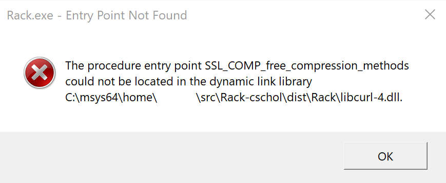 Rack does not build against correct openssl library on