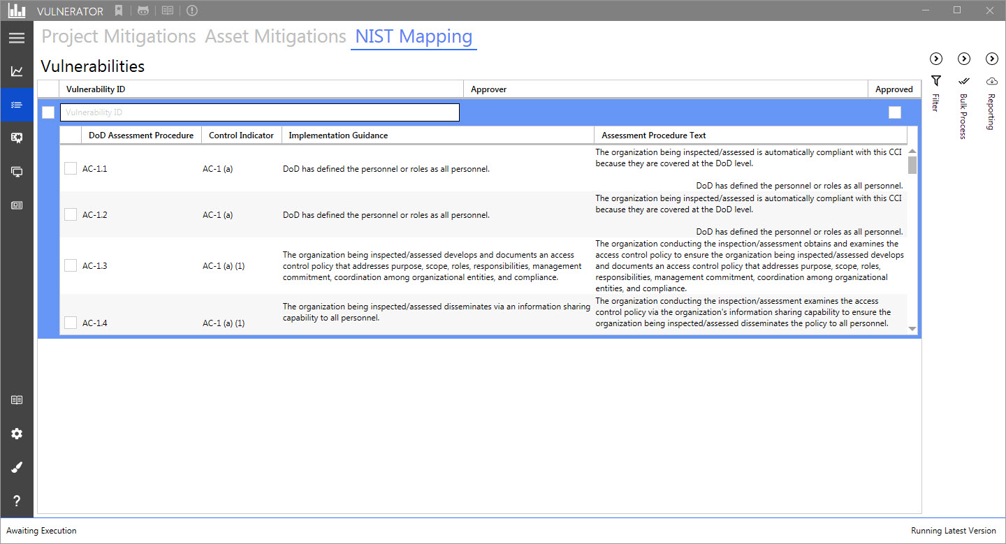 ACAS - NIST 800-53 control mapping · Issue #72 · Vulnerator