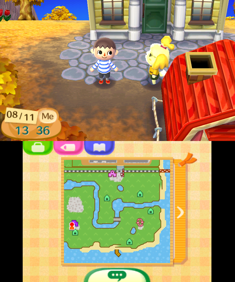 Animal Crossing: A New Leaf - Buildings Invisible/Unable to