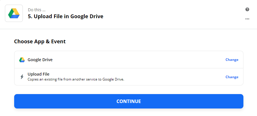 Zapier Google Drive