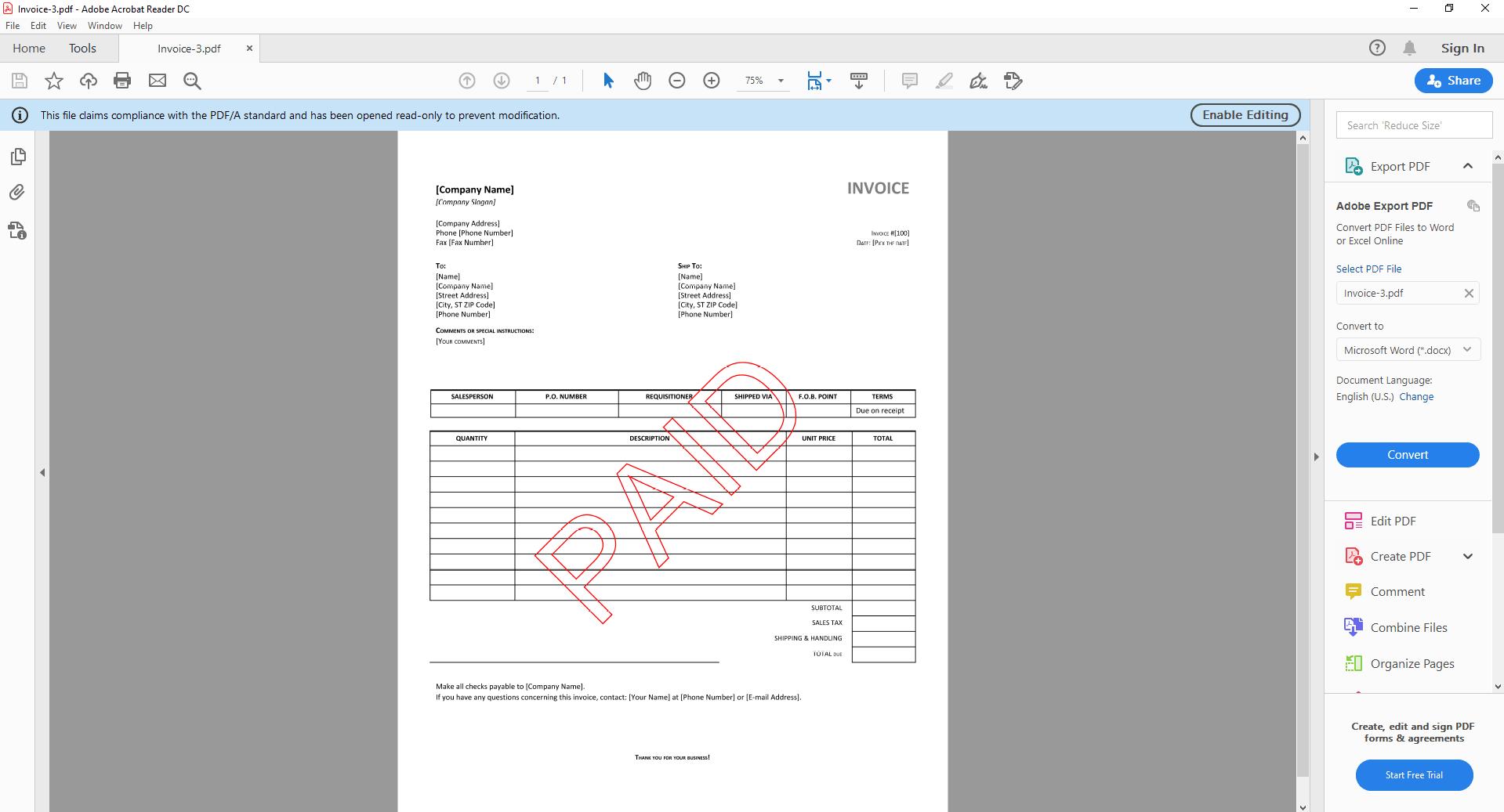 Zapier Watermark PDFA