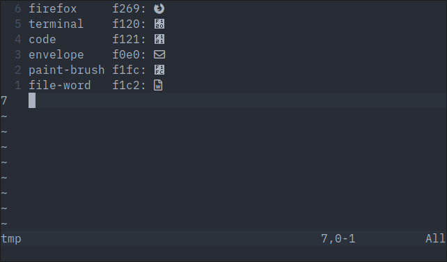 Not all symbols are displayed in a Linux terminal at font
