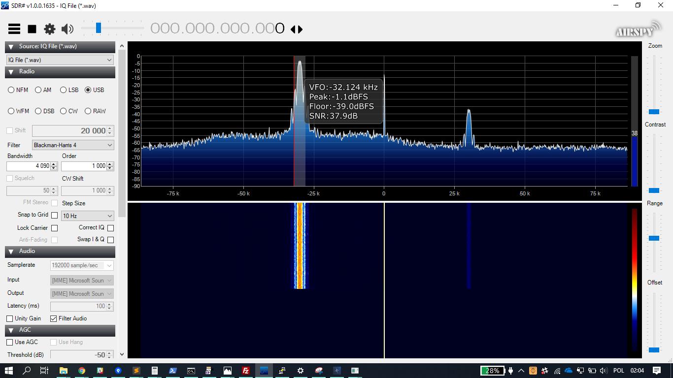 Testing SSB USB signal source · PW-Sat2/HAMRadio Wiki · GitHub