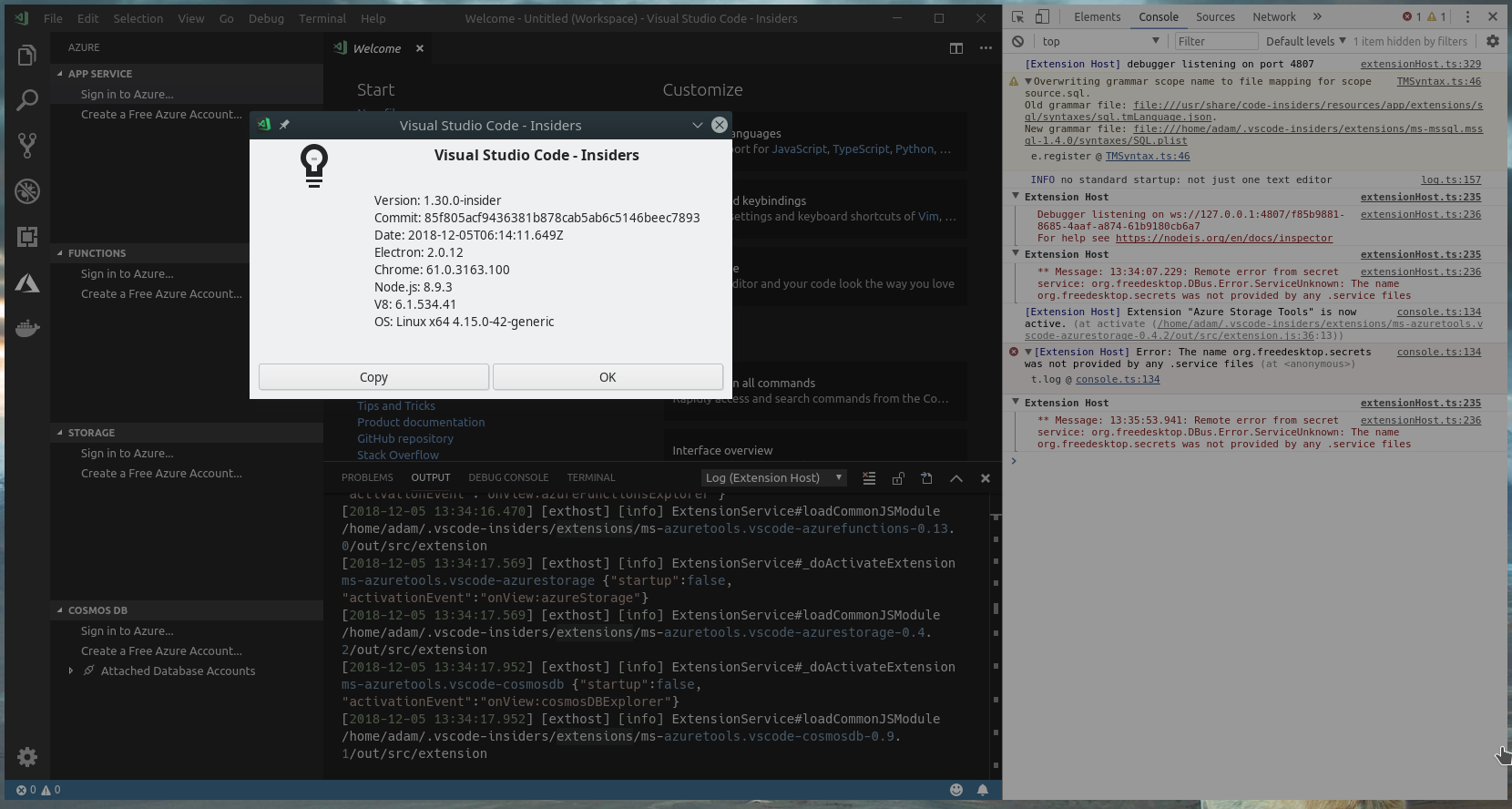 Clicking Sign in to Azure does nothing · Issue #112