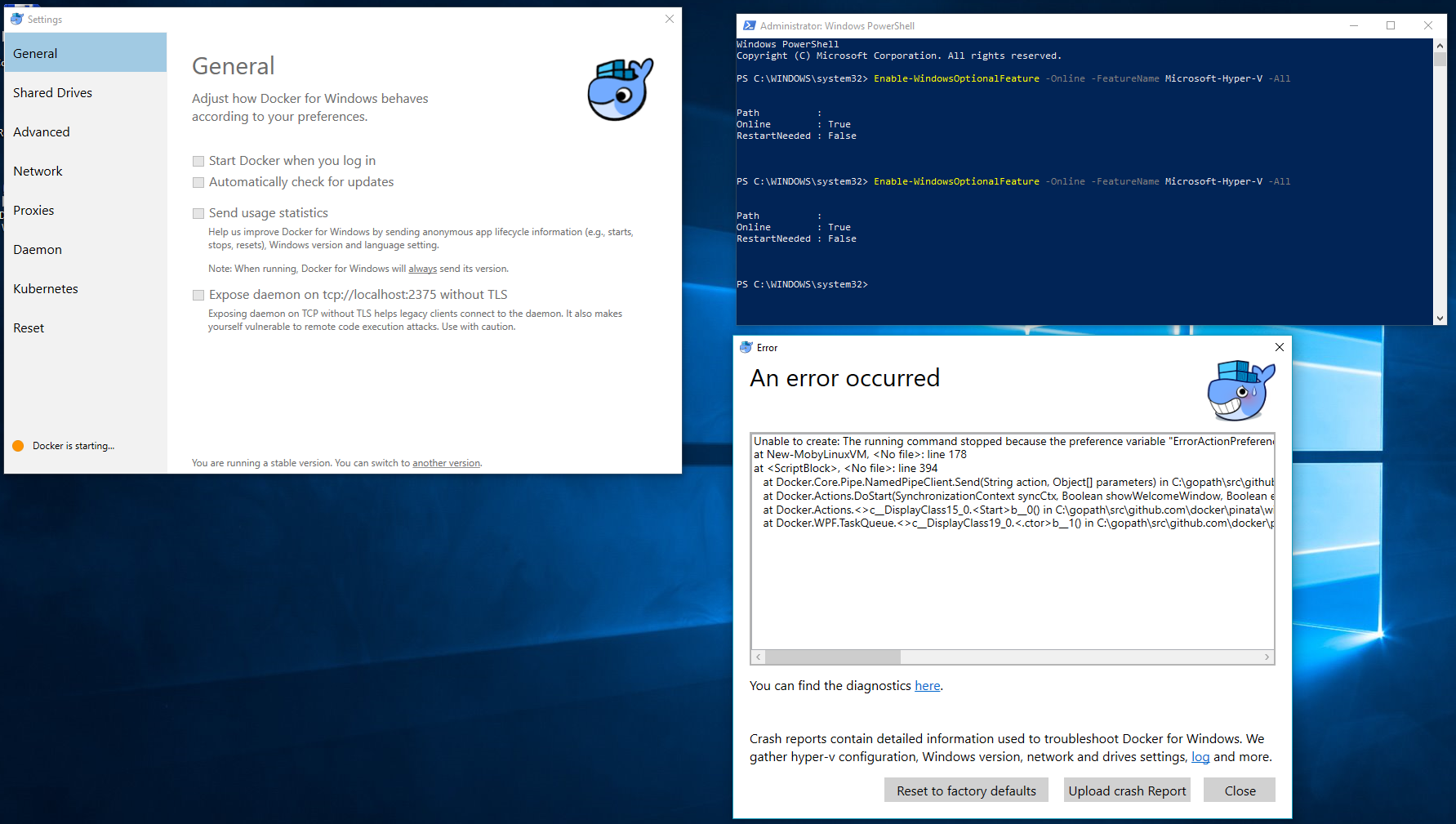 Hyper-V encountered an error trying to access an object on