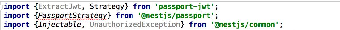 Can't import PassportStrategy from @nestjs/passport · Issue