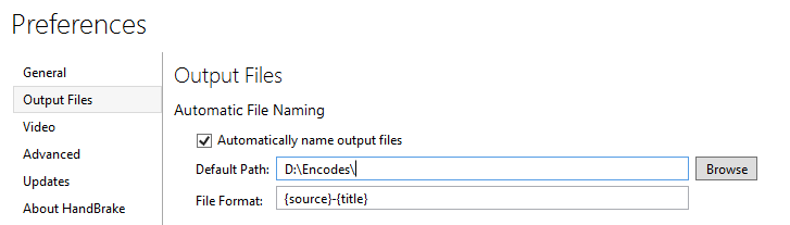 Automatic File Naming is renaming files literally as {source