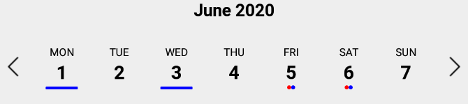 marked dates example