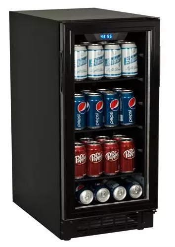 View larger image of Koldfront 80 Can Built-In Beverage Cooler - Black