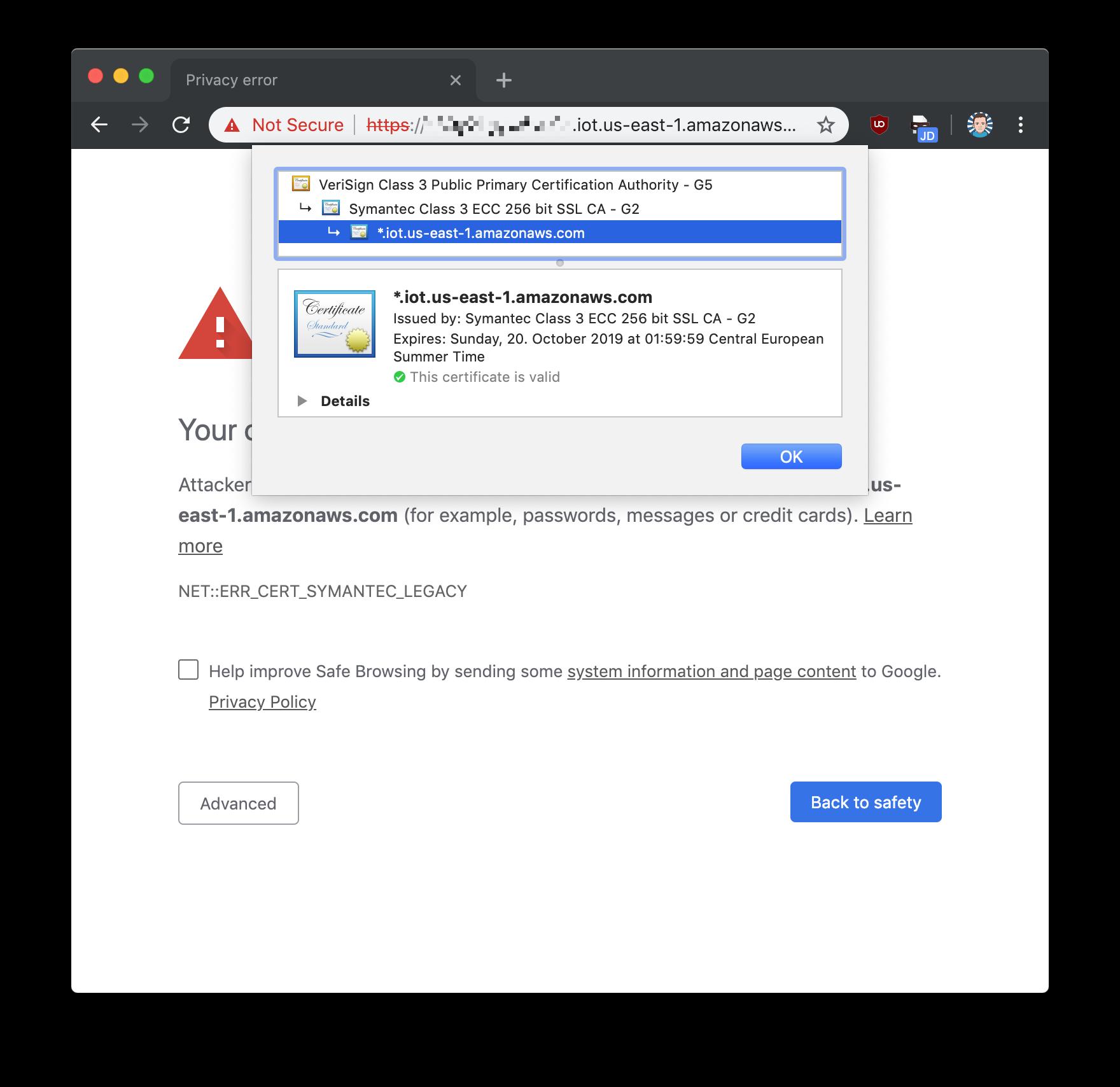 AWS IoT SSL handshake fails (invalid certificate) · Issue #1172