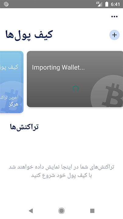 6  Importing Wallet…