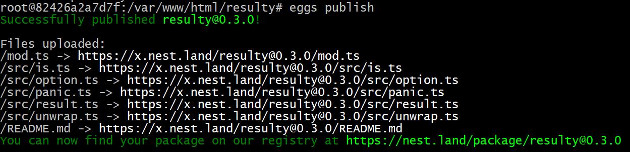 eggs-publish-cli-error