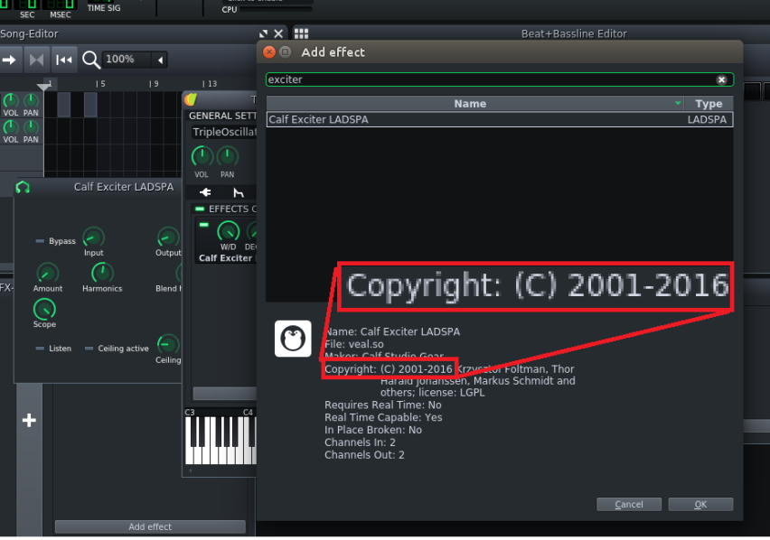 calf so shipped with LMMS crashes Ardour and Calf plug-ins · Issue