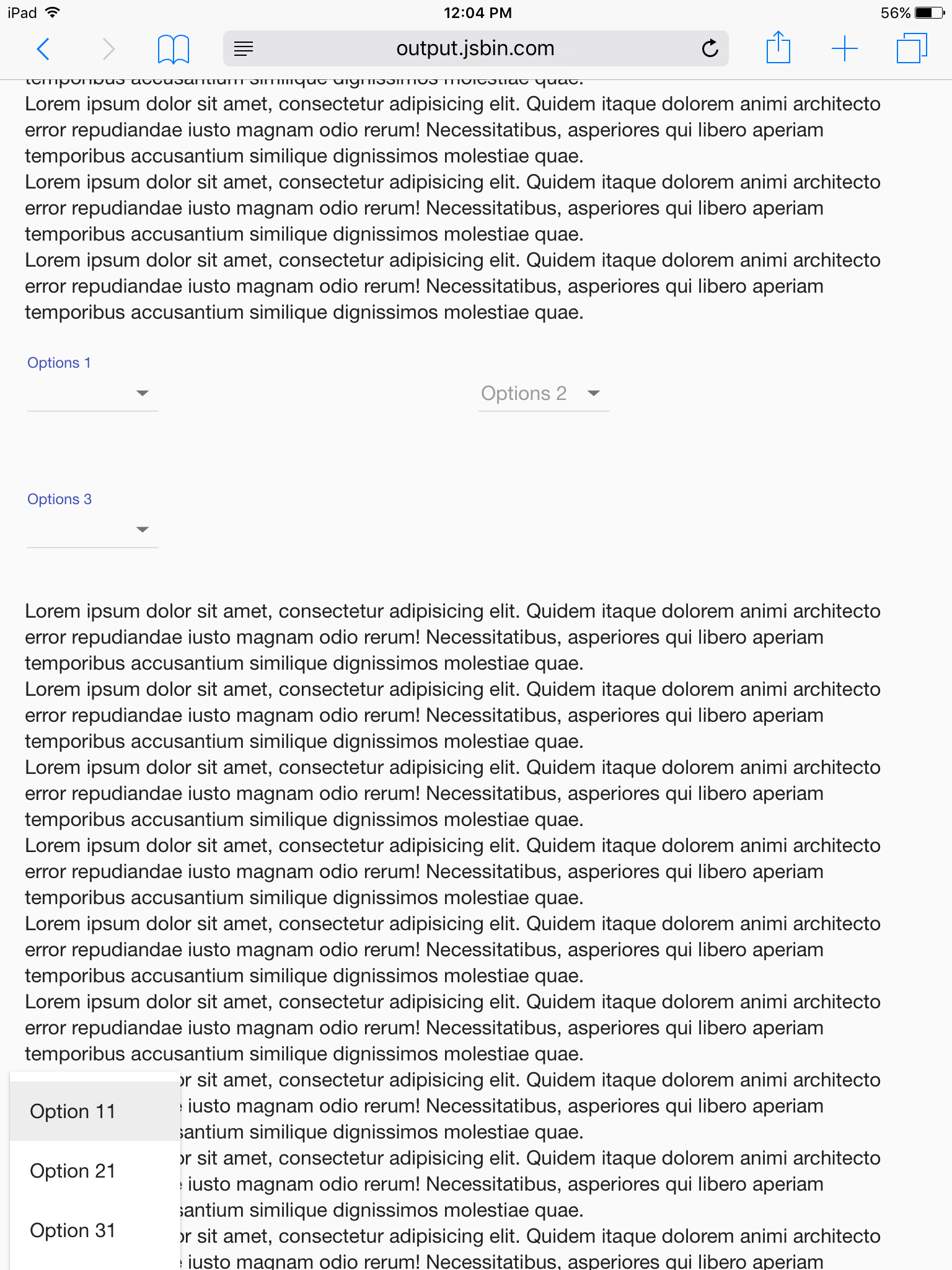 select: dropdown position is wrong in iOS Safari · Issue #11382