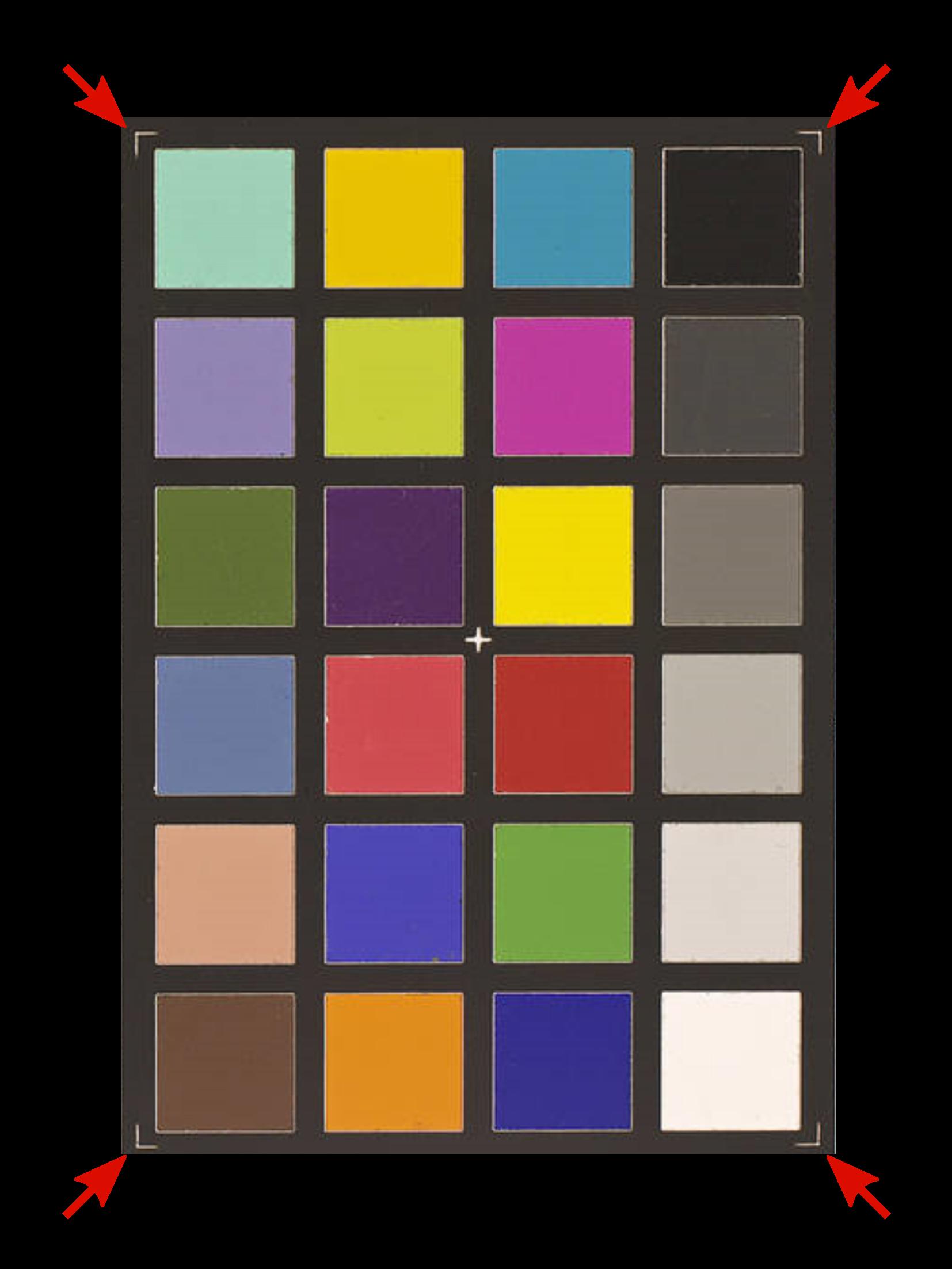 ColorChecker corners