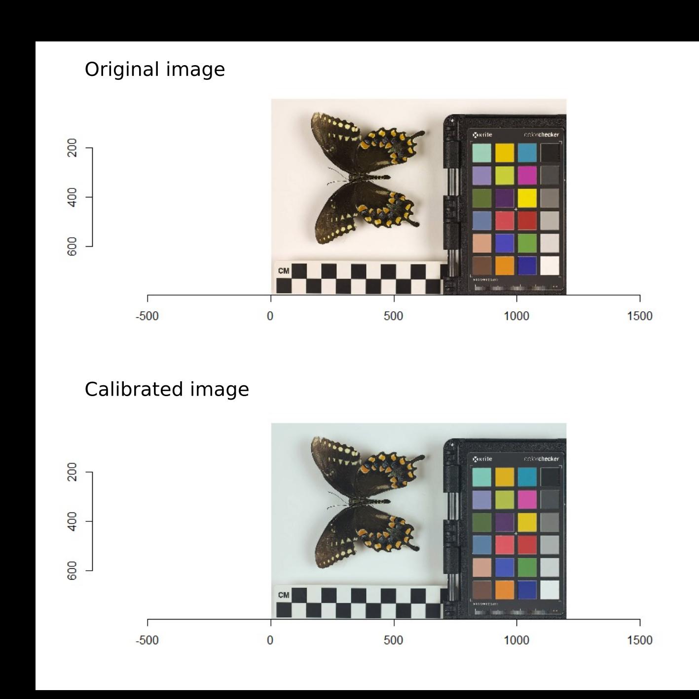 ColorChecker calibrated
