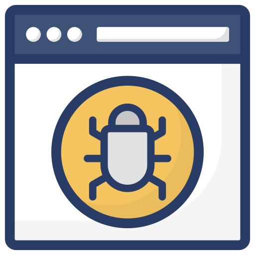 icon of a bug in a browser window