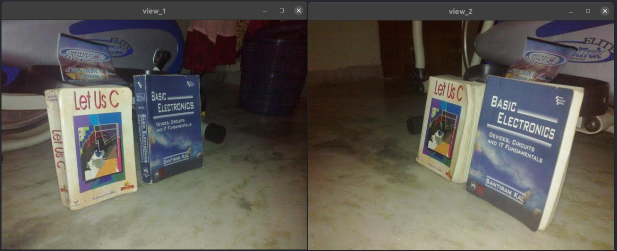 two images of the same object from different views