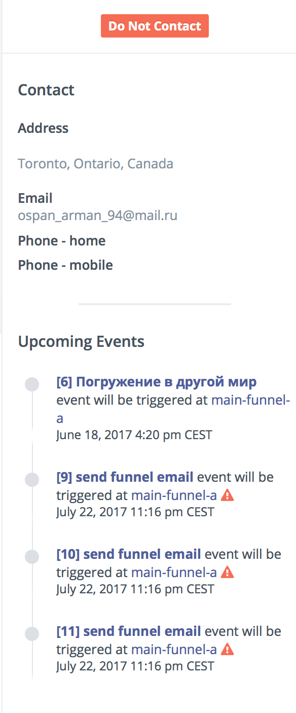Mautic attempts to execute scheduled events for bounced and
