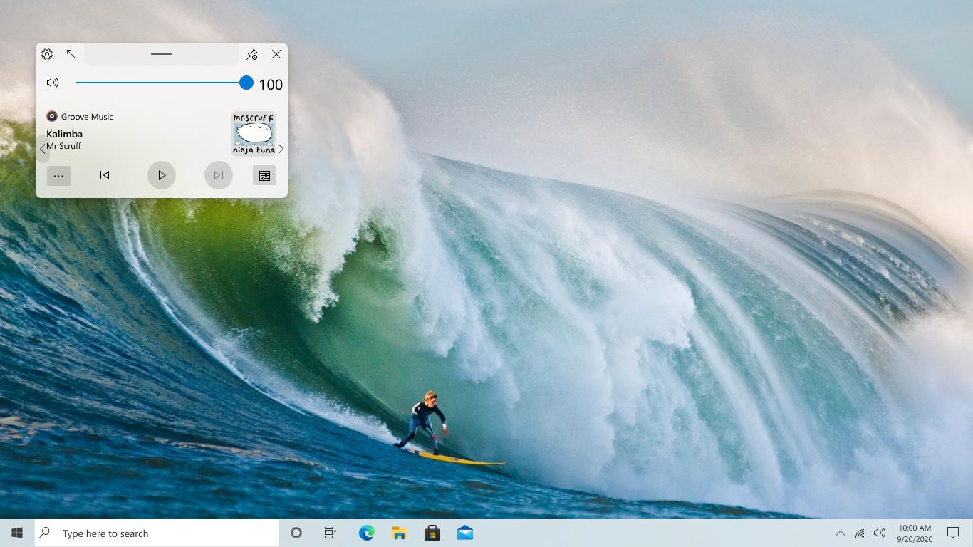 Incorporation of Microsoft Fluent Design Acrylic effect ...