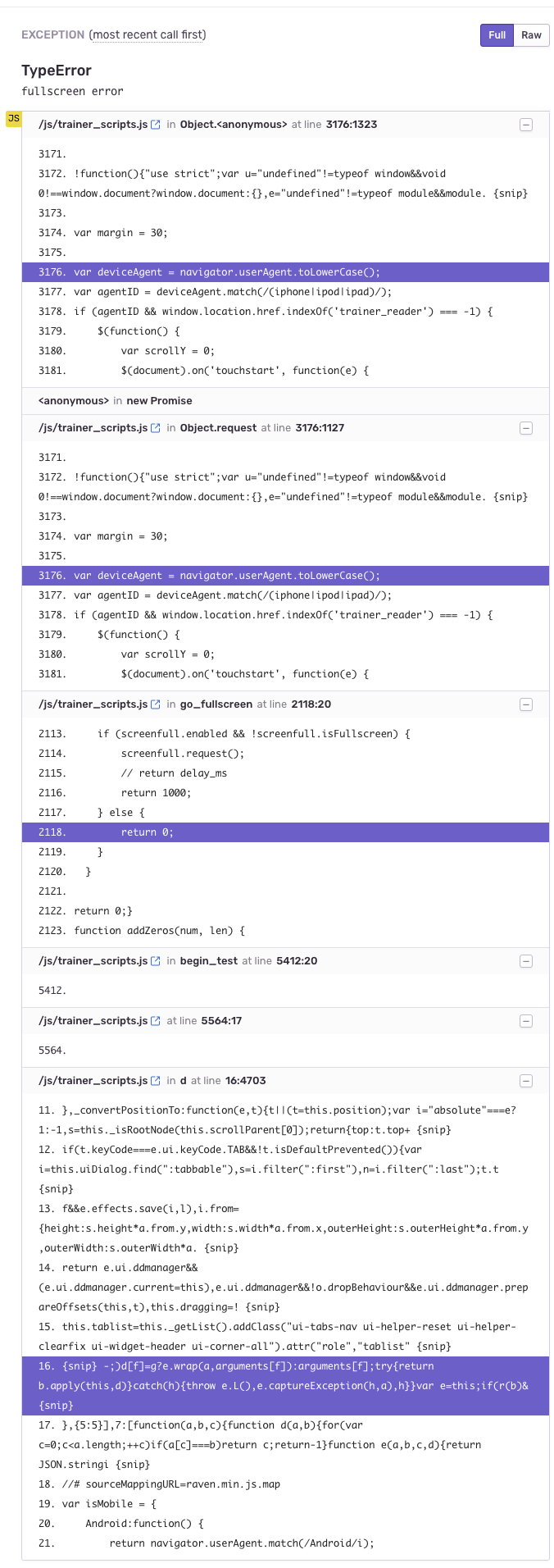 TypeError: fullscreen error · Issue #122 · sindresorhus/screenfull