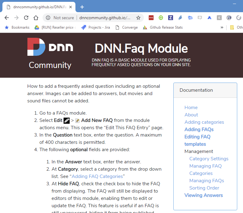 wrong active pages issue 3 dnncommunity jekyll theme dnn