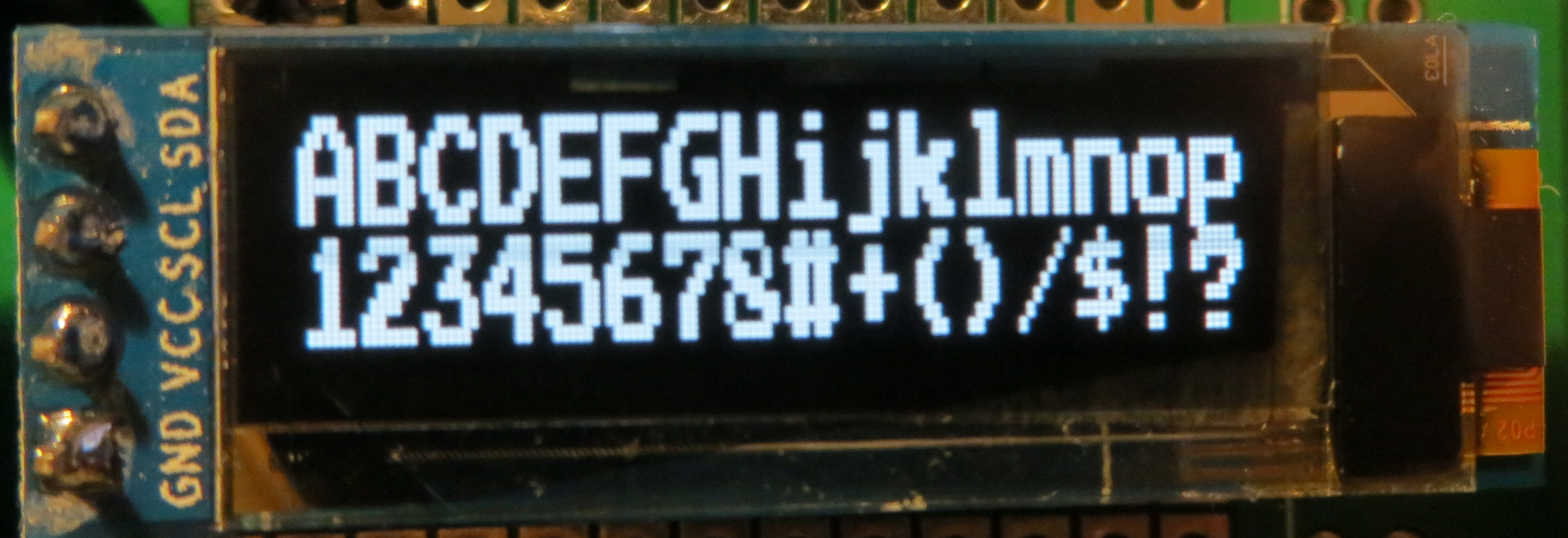 Developers - Use 128x32 pixel OLED like 16x2 LCD -