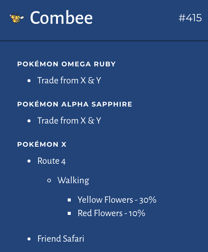 Data - Location missing important info (national dex