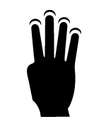 4-fingers-tap-gesture-icon