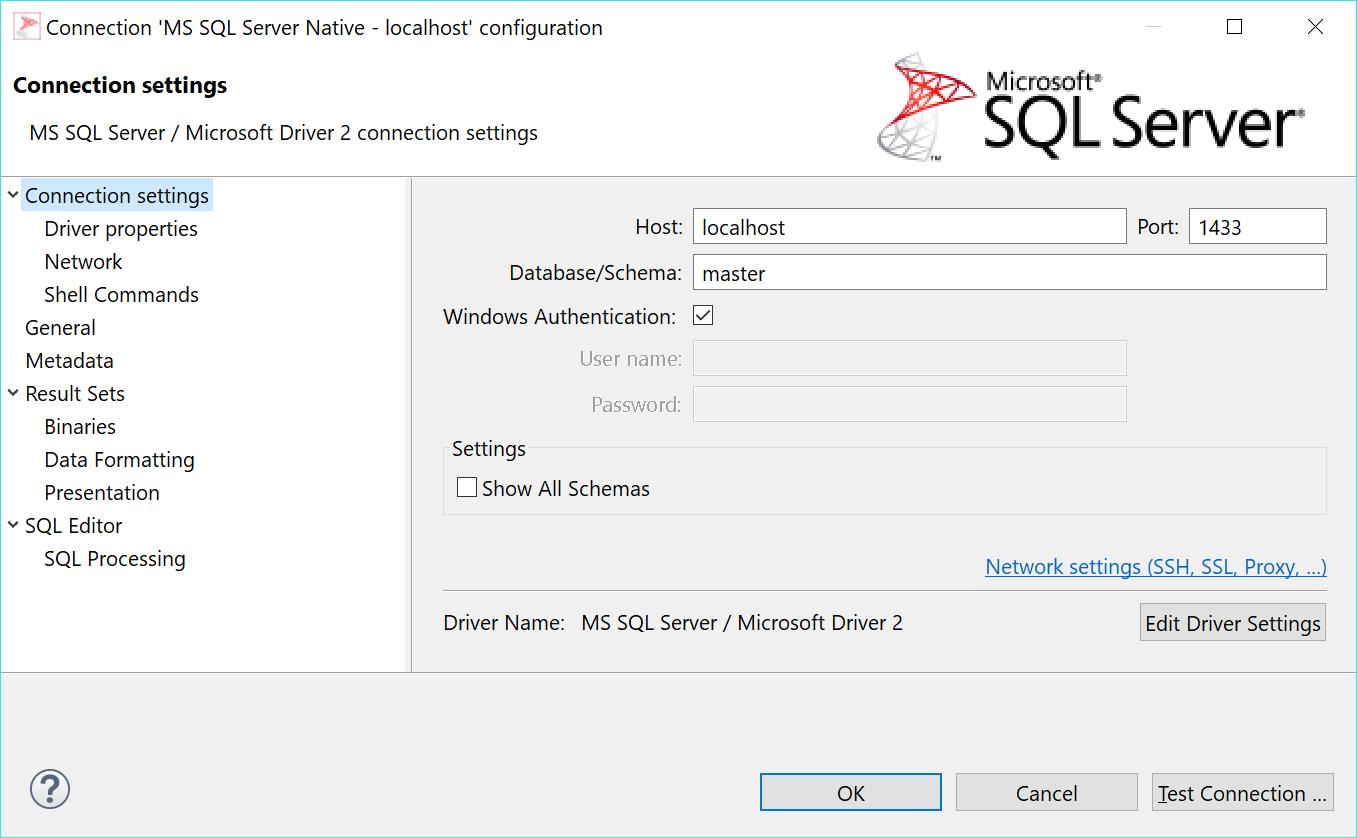 Display of schemas for Microsoft SQL Server is broken in 4 3 2 CE