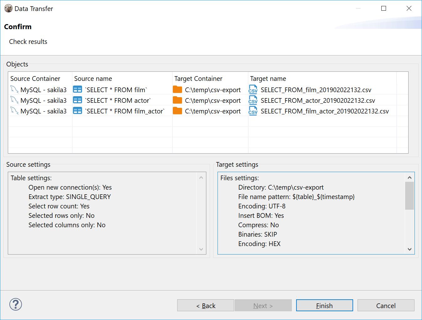 Export data from multiple queries (script) · Issue #2855 · dbeaver