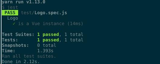 Default test does not pass · Bug Report #c8573 · Nuxt js